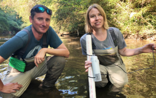 Jason and Jess install CASSI in Proctor Creek